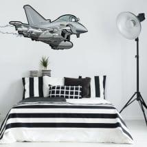 Vinilos decorativos y pegatinas juveniles avión caza