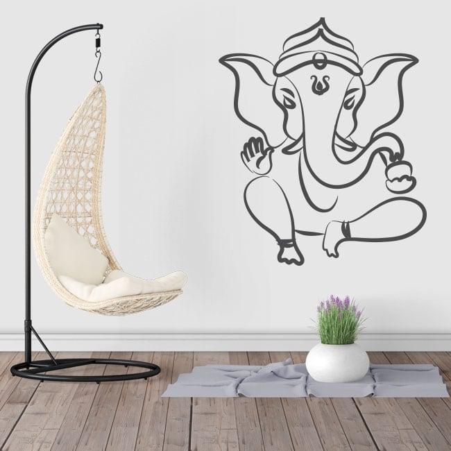 Vinilos y pegatinas silueta elefante ganesha