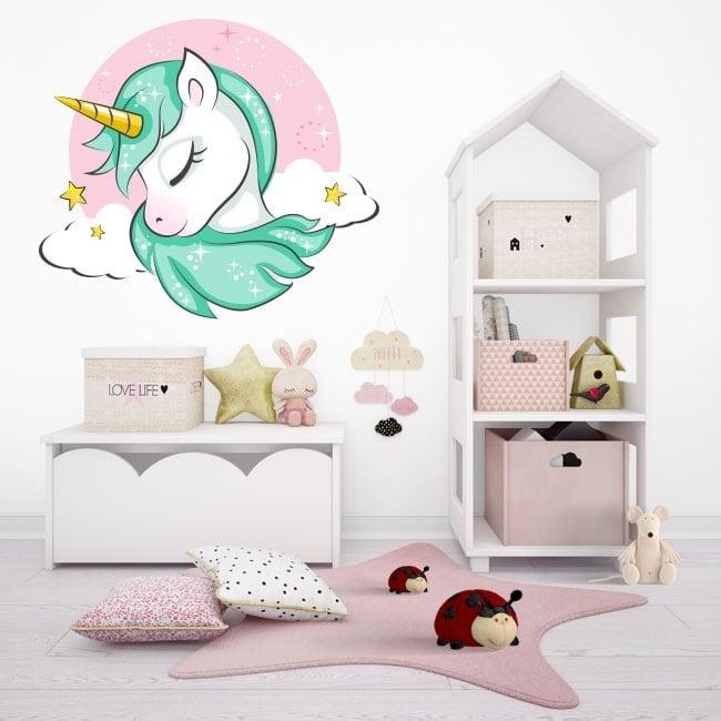 Vinilos infantiles o juveniles unicornio