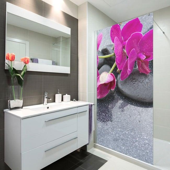 Vinilos para mamparas de baños estilo zen