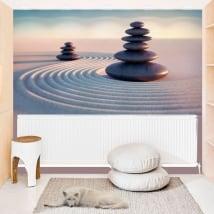 Fotomurales de vinilos piedras zen