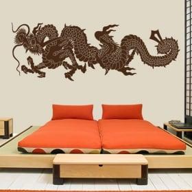 Vinilos decorativos y pegatinas dragón japón