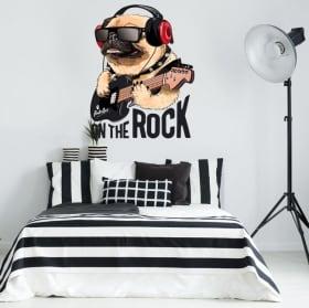 Vinilos decorativos y pegatinas perro rock