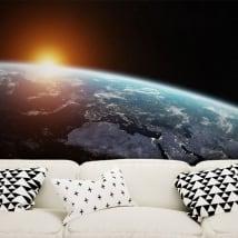 Fotomurales planeta tierra y sol