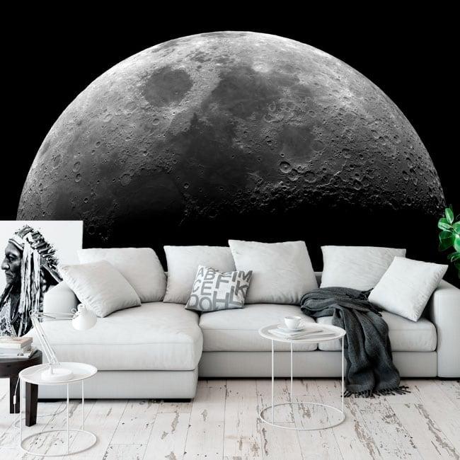 Fotomurales adhesivos de la luna