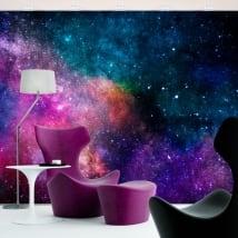Fotomurales de vinilos colores de la galaxia