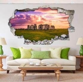 Vinilos decorativos y pegatinas 3d stonehenge