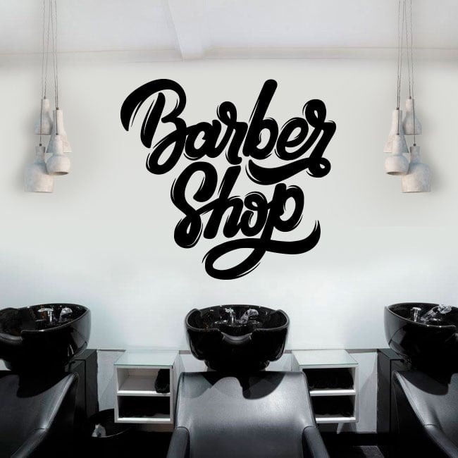 Vinilos decorativos y pegatinas barber shop