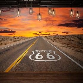 Fotomurales de vinilos route 66