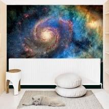 Fotomurales de vinilos galaxia en espiral