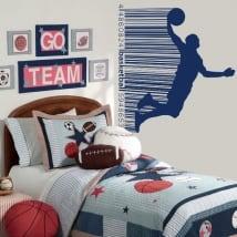 Vinilos y pegatinas basketball código de barras