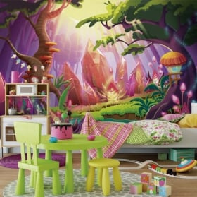 Fotomurales infantiles bosque mágico