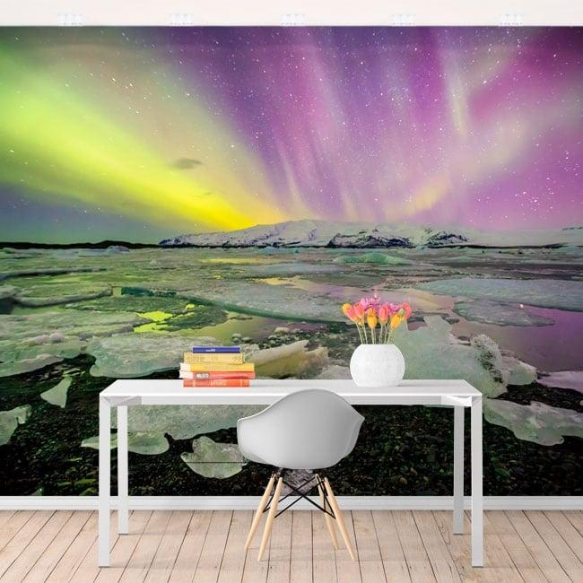 Fotomurales aurora boreal islandia