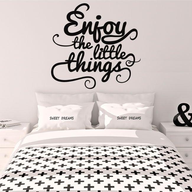 Vinilo decorativo frase inglés enjoy the little things
