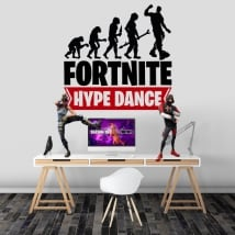 Vinilos y pegatinas fortnite hype dance