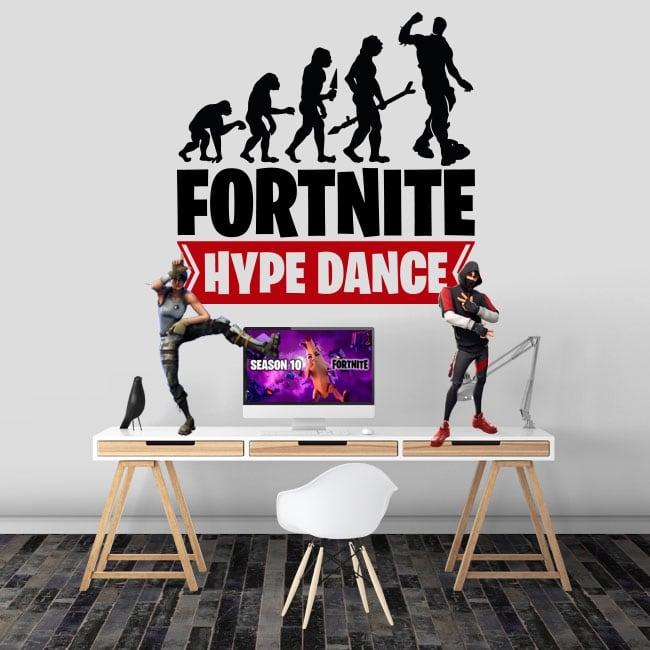 Vinilos y pegatinas fortnite hype dance