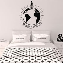 Vinilo decorativo frase the world is yours