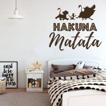 Vinilos decorativos frases el rey león hakuna matata