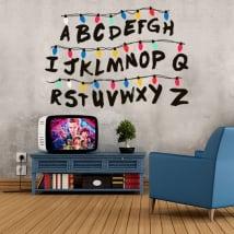 Vinilos y pegatinas abecedario stranger things