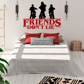 Vinilos y pegatinas stranger things friends don't lie