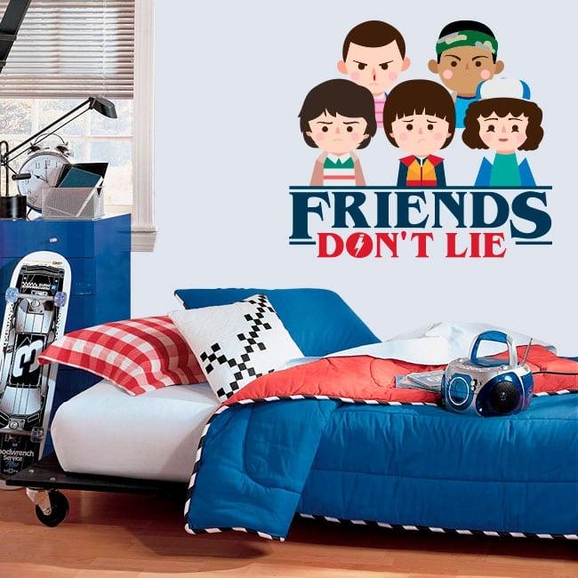Vinilos decorativos stranger things friends don't lie