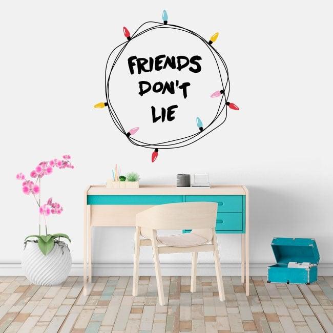 Vinilos adhesivos stranger things friends don't lie