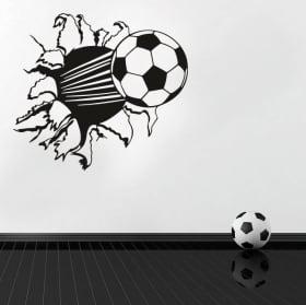 Vinilos y pegatinas pelota de fútbol efecto 3d
