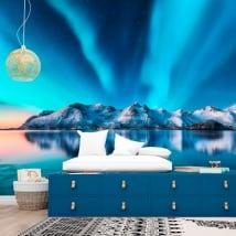 Fotomurales de vinilos aurora boreal noruega
