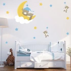 Vinilos y pegatinas infantiles o de bebé osos dulces sueños