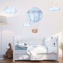 Pegatinas de vinilos globo con nubes y estrellas