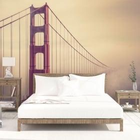 Fotomurales de vinilos puente golden gate