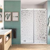 Vinilos decorativos para mamparas de baños