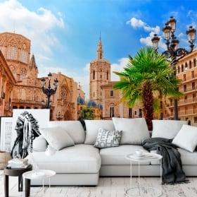 Fotomurales de vinilos plaza santa maría de valencia
