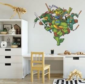 Pegatinas de vinilos las tortugas ninja