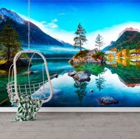 Murales de vinilos alemania amanecer lago hintersee