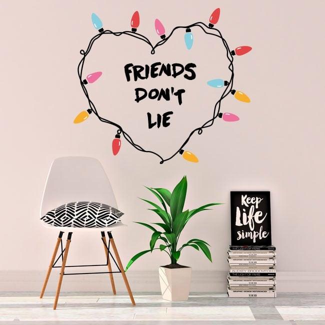 Pegatinas y vinilos stranger things friends don't lie