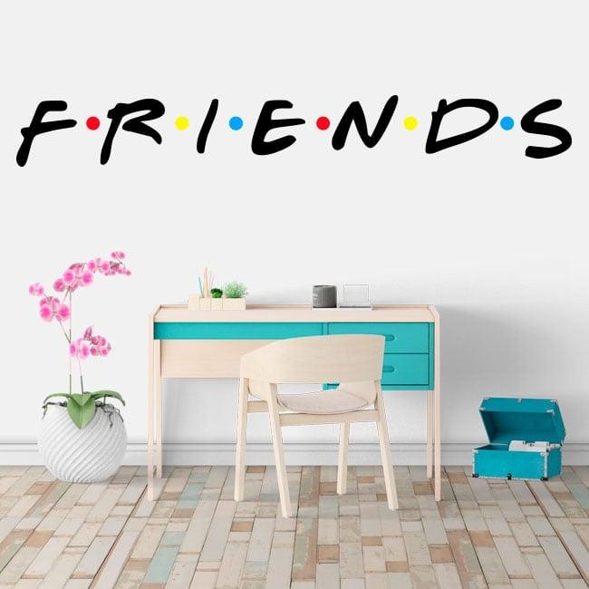 Pegatinas y vinilos netflix logo serie friends