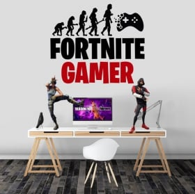 Vinilos y pegatinas fortnite gamer