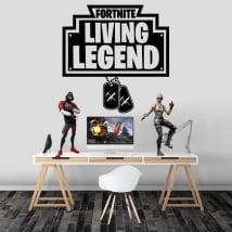 Vinilos y pegatinas fortnite living legend