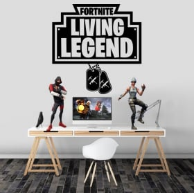 Vinilos y pegatinas fortnite living legend