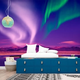 Fotomurales de vinilos aurora boreal