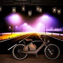 Fotomurales de vinilos luces en la carretera