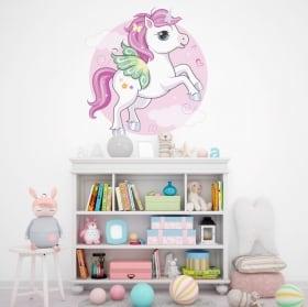 Vinilos y pegatinas infantiles unicornio