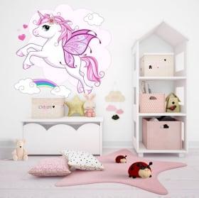 Vinilos decorativos y pegatinas con unicornios