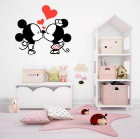 Pegatinas de vinilos mickey y minnie mouse love