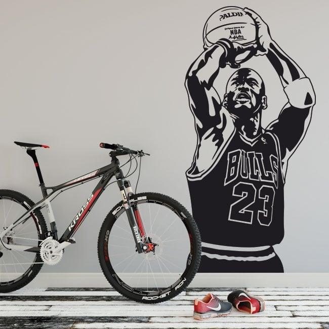 Vinilos y pegatinas michael jordan basketball
