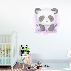 Vinilos y pegatinas infantiles o para bebés oso panda