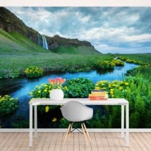 Fotomurales cascadas seljalandsfoss islandia