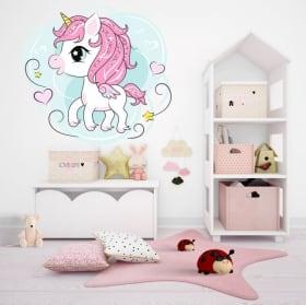 Vinilos y pegatinas unicornio infantil