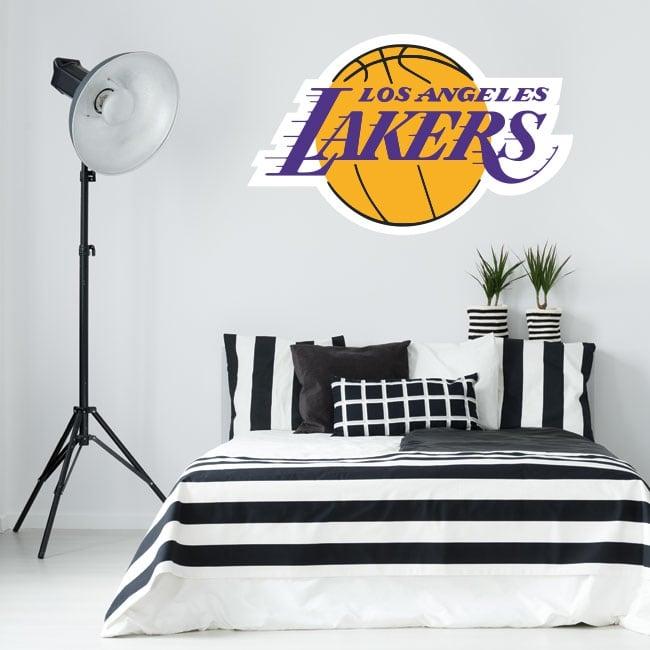 Vinilos y pegatinas logo los angeles lakers basketball